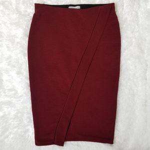 Zara red/burgundy pencil skirt
